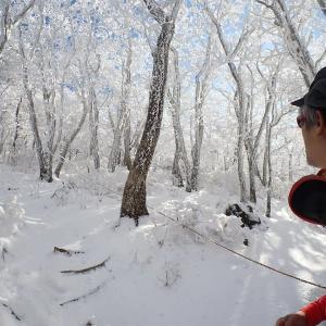 19日.降雪翌日、一人で韓国岳へ