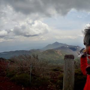 2日.密な韓国岳に怯え避難小屋経由で帰る