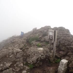 大雨の翌日韓国岳へ