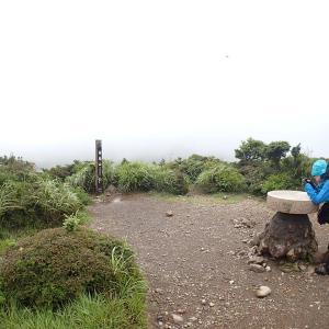 強風大雨に萎え、標高の低い白鳥山へ