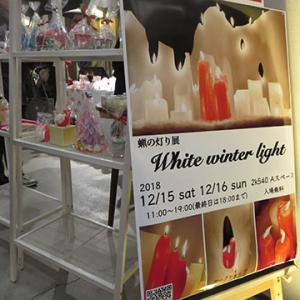 蝋の灯り展示 White winter light
