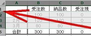 ドラッグ操作でけでデータを一発消去しExcel表を使い回したい!