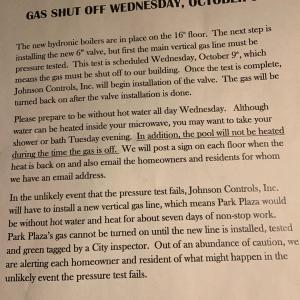 No Hot Water Gas Shut Off