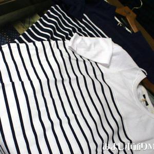 【パネルボーダーTシャツ】ヘビーウェイトコットン使用、夏に欲しい一点ですね!