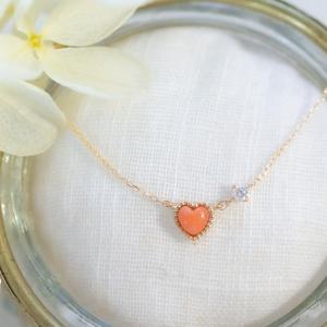 ハートの珊瑚とダイヤモンド