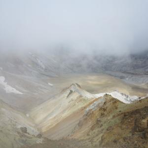 20200528(木) お気に入りの沼ノ平火口は霧で幻想的!