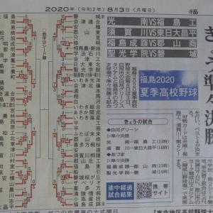 20200803(月) 磐城高校、さあ準々決勝だ!