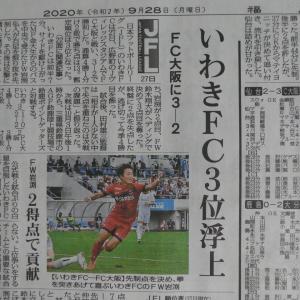 20200927(日) いわきFC3:2FC大阪;相変わらずの決定力不足! 強豪相手に競い負けぬよう守備力・攻撃力の徹底改善を!