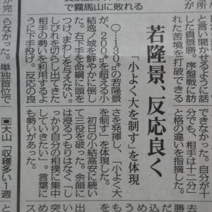20210913(月) 若隆景連勝!/小結・高安、小結・逸ノ城に快勝!