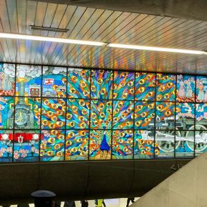 新橋駅から有楽町駅まで銀座を散策。カフェーパウリスタでお茶、ZARA、銀座シックス、串やき鍛冶屋文蔵。