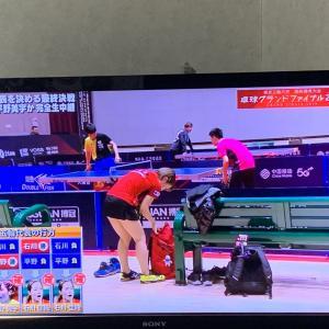 卓球グランドファイナル女子シングルス1回戦石川佳純vs劉詩ブン。0-4で石川が負けてしまった、、、
