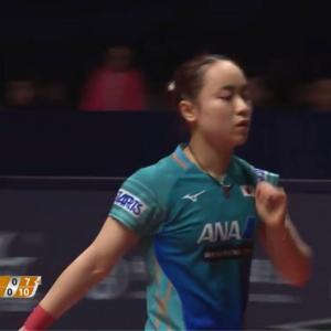卓球グランドファイナル女子シングルス準々決勝 佐藤 瞳 vs 伊藤美誠。伊藤が4-0で準決勝進出!