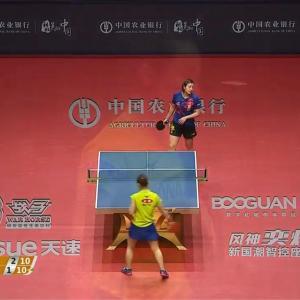 卓球グランドファイナル女子シングルス準決勝 陳夢 vs 伊藤美誠。1-4で伊藤が負けた、、、