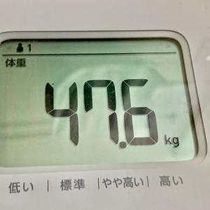 体重は、夕食前・入浴前47.5kg、体脂肪率は、26.9%。 入浴後は47.4kg、 26・4%。ちなみに身長は156cmです。もう痩せなくてもいいかなww