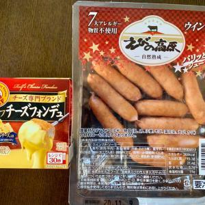 帰宅後、まだお腹が空いてたので、ミニチーズフォンデュでウィンナーを食べてしまったww塩ピーカンナッツチョコも。
