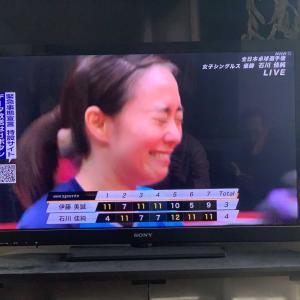 石川佳純が、全日本卓球選手権の女子シングルスで伊藤美誠に4-3で逆転優勝!