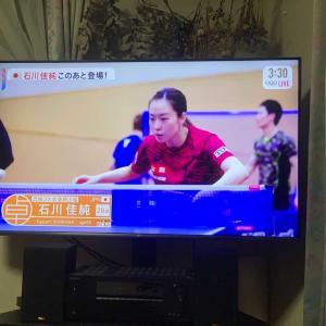 卓球女子シングルス3回戦石川佳純 ー   パラナン(タイ)4-2で初戦勝利。苦戦したけど、勝てて良かった。