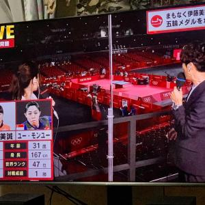五輪卓球女子シングルス3位決定戦。伊藤美誠 4ー1  ユー・モンユー。銅メダル獲得!