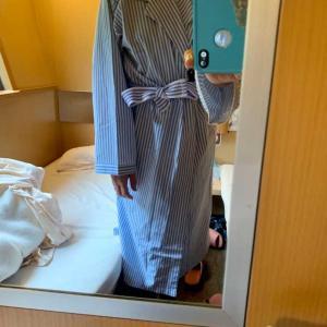 寝台特急サンライズ出雲で山陰旅行へ。浴衣。サンライズ瀬戸と岡山駅で切り離し。ラウンジで朝食。