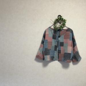 紬の着物からセットアップ♪