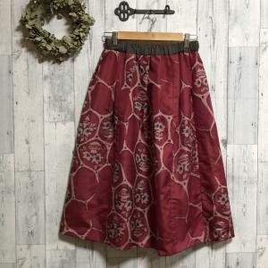 華やかな銘仙と大島紬でスカート