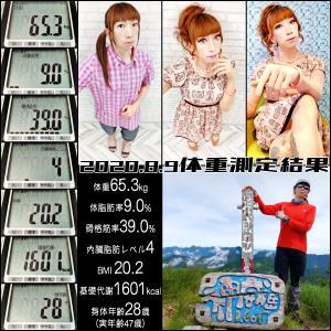 ☆2020.8.9の体重測定結果☆