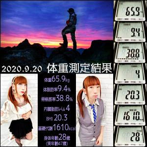 ☆2020.9.20の体重測定結果☆