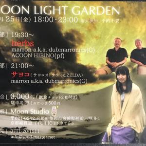 明日、今年最後のmoon light garden