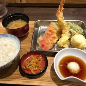 揚げたて天ぷらランチを食す