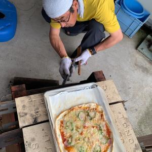 父アトムのピザ作り