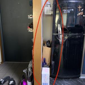 冷蔵庫の隙間15cmをDIY
