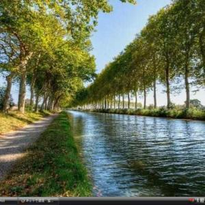 ミディ運河 -フランス 世界遺産 写真・壁紙集
