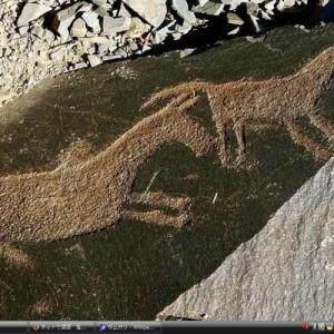 タムガリの岩絵群 - カザフスタン 世界遺産 写真・壁紙集