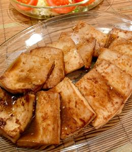 コウさんの ヘルシー!豆腐焼肉、作ってみたー!