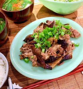 コウさんの 豚と茄子の甘辛うまみ炒め、作ってみたー!