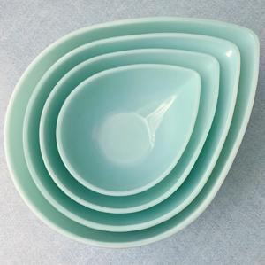 Fireking* Turquoise Blue Swedish Modern Bowls