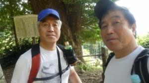 ふたごで登る関八州、顔振り峠9月22日