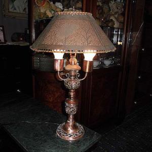 英国アンテイ―ク 銅製の素敵なランプ