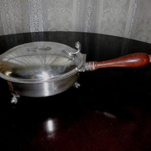 アンテイーク 銀製ダストパン パンくず用塵取り 蓋つき