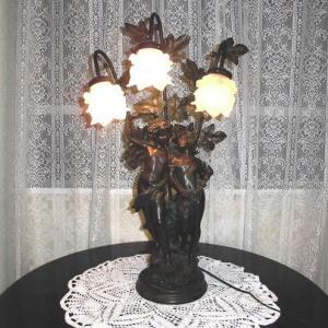 アンテイーク  イタリー天使のテーブルランプ フロアランプ