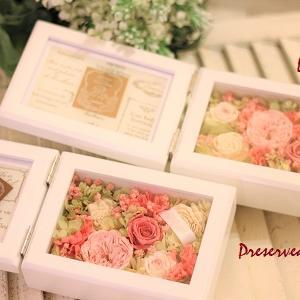 ☆ご両親への贈呈花 プリザーブドフラワーのフォトフレーム