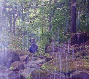 「秋の遠足」山彦の滝