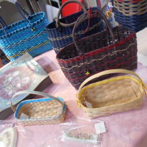 ✿手作りカゴバッグとトールペイントの店頭販売✿フリマボックスミオカ店✿