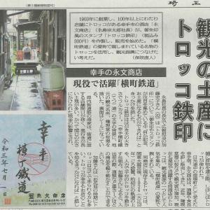 横丁鉄道が埼玉新聞で紹介~♪♪♪