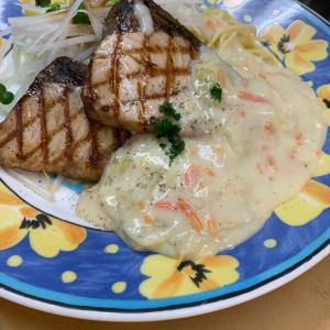 ぶりグリル 白菜のクリームソース