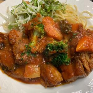 豚バラと野菜のトマトソース煮