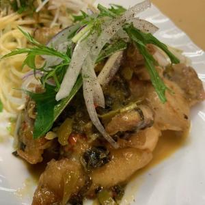 グリルチキン 高菜のスウィートチリソース