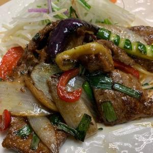 牛レバーと野菜のスタミナ炒め