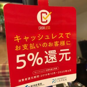 キャッシュレスで、お支払いのお客様5%還元お得にお買い物して頂けます。