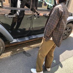 bettaku×jeep jk wrangler ファッション×車 おしゃれしてドライブ